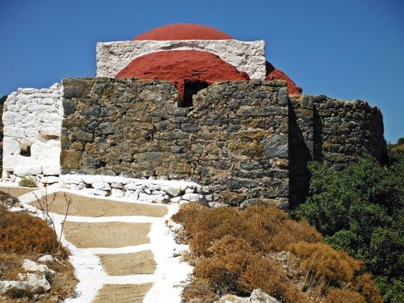 Leros island, a little church close to the War museum in Lakki