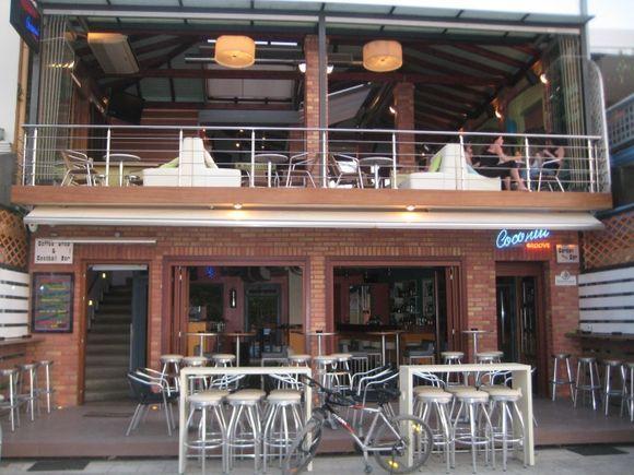 Lefkada, a bar in the main street