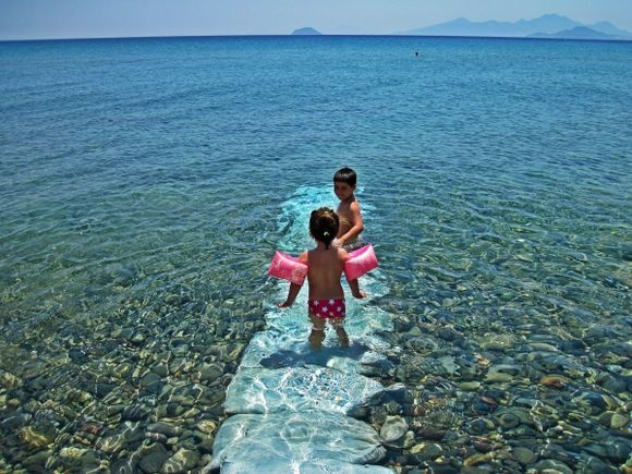 Kos island, the official naturist Tropical (Natural) beach, close to Kardamena