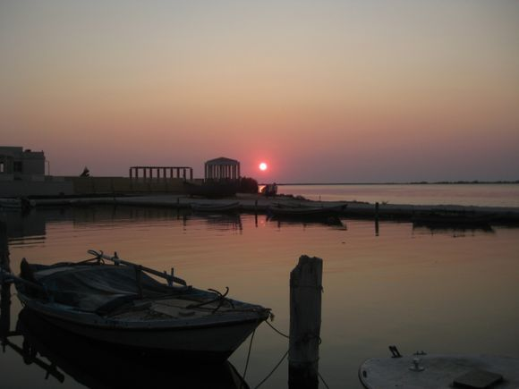 Lefkada, sunset from the port