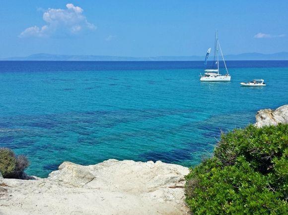 Halkidiki, Kavourotripes beach (Orange beach)