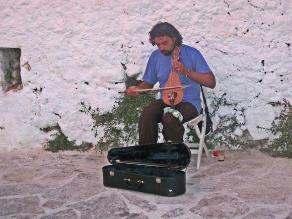 Lefkada island, a player of ?? in Agios Nikitas village