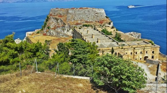 Corfu island, view of the Old Fortress