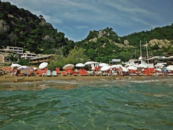 Corfu island, Glyfada beach