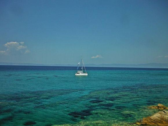 Halkidiki, Kavourotrypes beach (Orange beach)