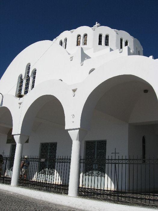 Santorini, the Orthodox Metropolitan Cathedral in Fira