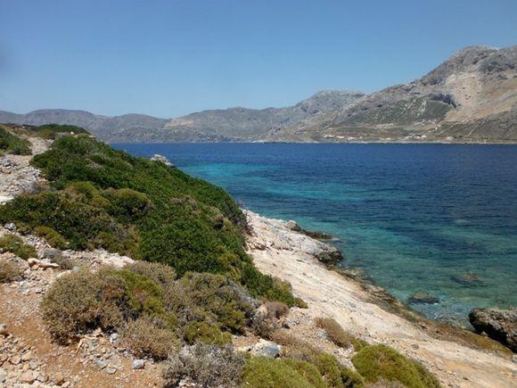 The coast of Telendos island