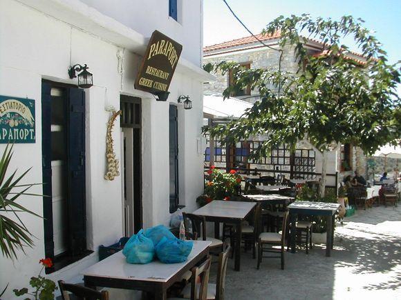 A traditonal Greek restaurant in the Chora