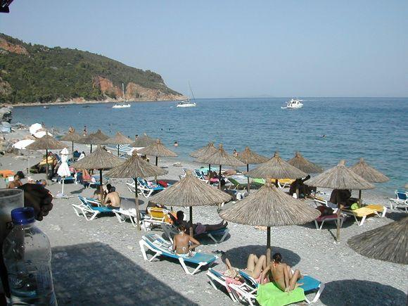 Skopelos, Stafilos Beach before Velanio Beach, the nudism side