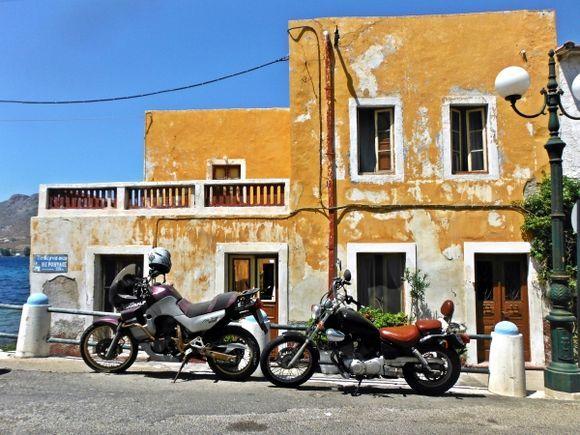 Leros island, the main road in Agia Marina