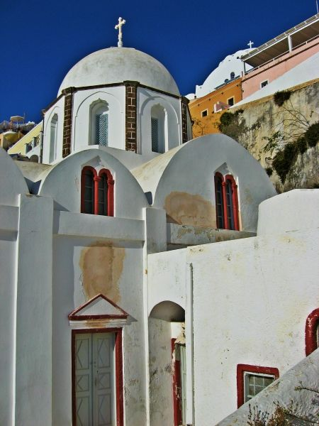 Santorini island, the catholic church in Fira