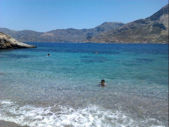 Telendos island, the official naturist Paradise beach