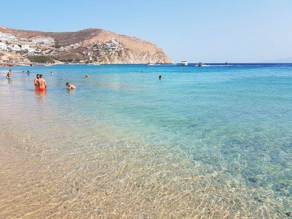 Mykonos august 2017, Elia beach