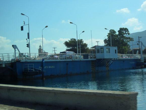 Lefkada, the bridge of Santa Maura