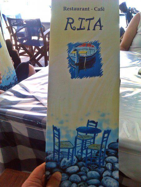 Telendos Island (Kalymnos) july 2012, the famous Rita taverna in the port