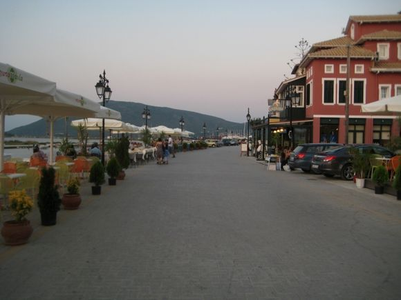 Lefkada, main street of the town