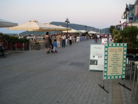 Lefkada, road in front of the port