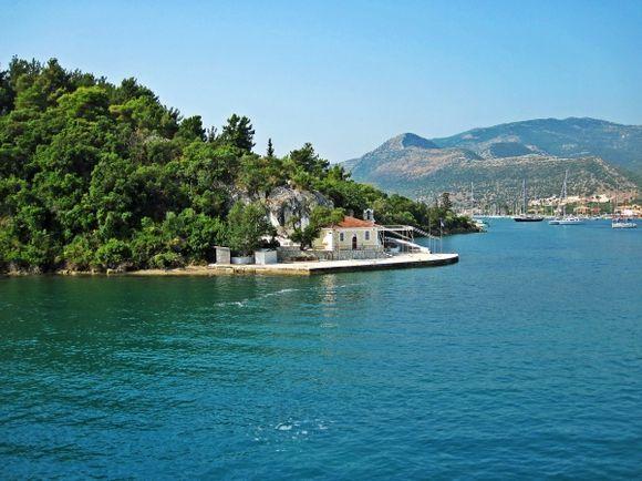 Lefkada island, the little church in Agia Kiriaki close to the port of Nidri