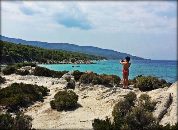 Halkidiki (Sithonia), Kavourotrypes beach