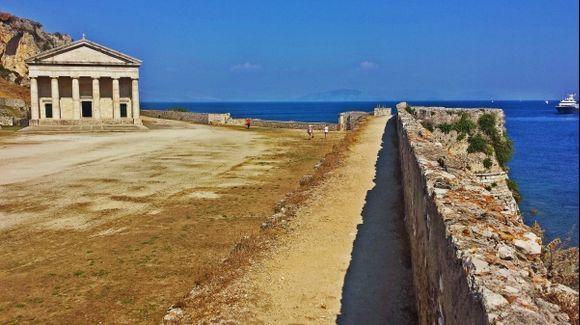 Corfu island, the church of Saint George, built by the Venetians as an ancient temple