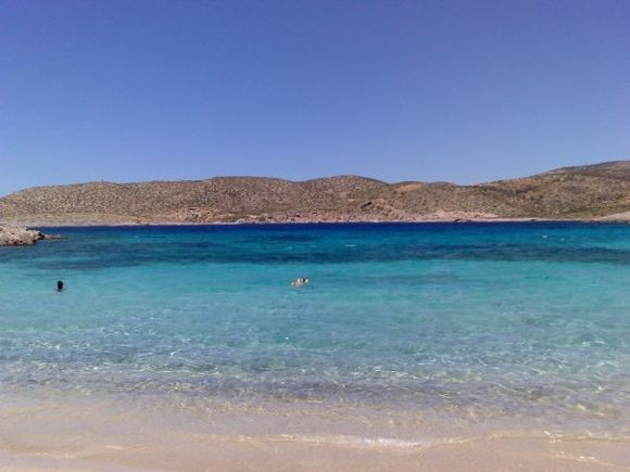 lovely beach in the Spilaio Olympon area