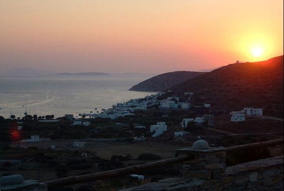 Sunset over Katapola.