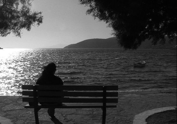 Woman and sea. Katapola