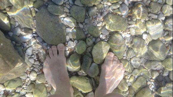 my feet in skala beach