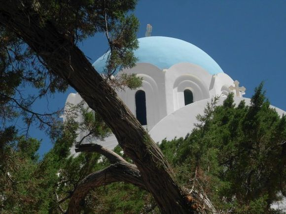 dome of the church in skala, agistri