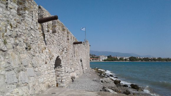 nafpaktos a year ago. it was very windy, so no swimming, just walking