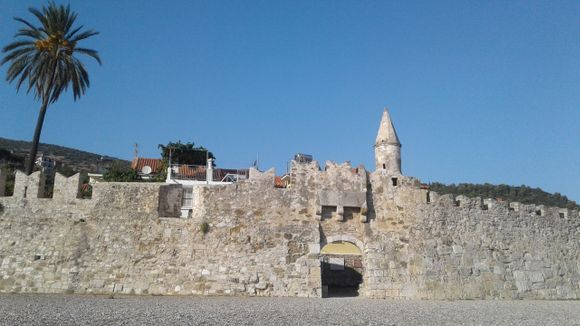 the walls around the port