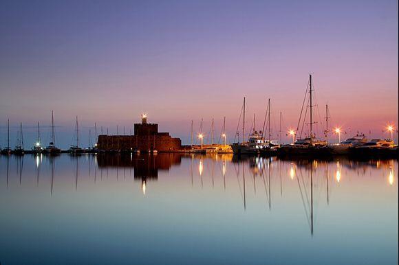 Mandraki-port early in the morning... Rhodes.