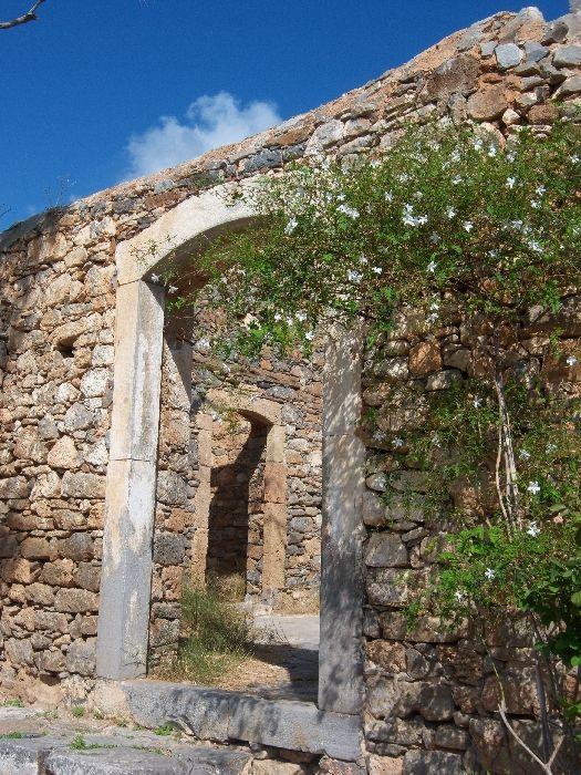 Inside of the former leper colony
