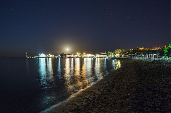 Moonlight over Kathara Bay, Faliraki