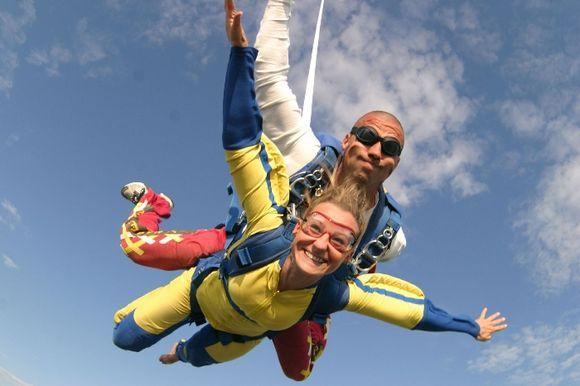 Tandem jump in Crete