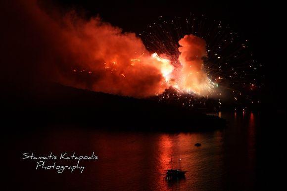 Representation volcanic eruption