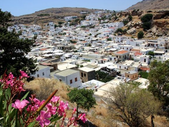 Lindos town.