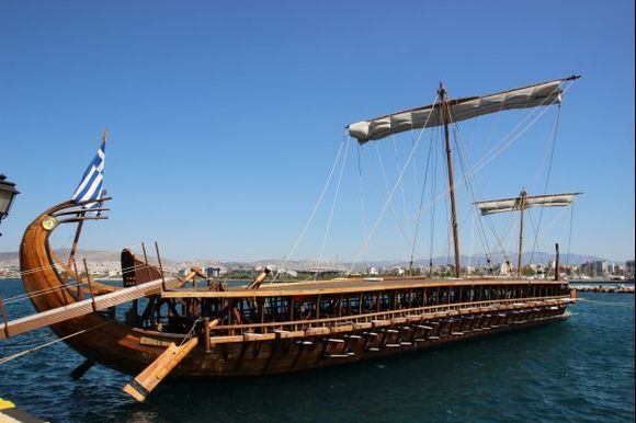 Replica of an ancient trireme.