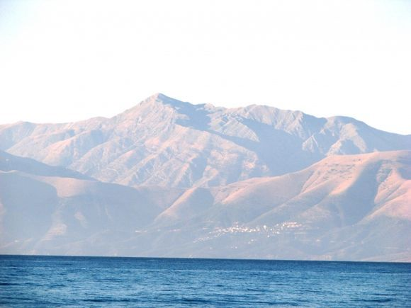 The Albanian mountains seen from Roda.