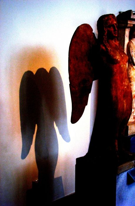 Sculpture and shadow.
