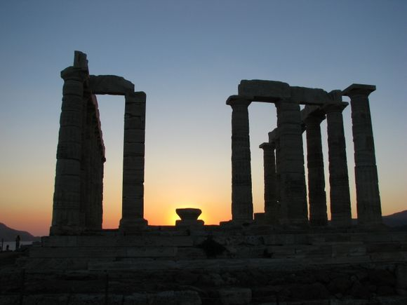 The famous Temple of Poseidon.