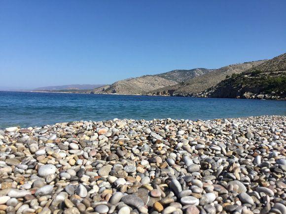 Pebbles on Trahili beach