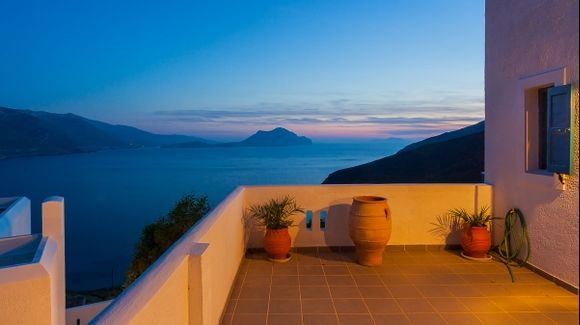 Looking out from the Hotel Aegialis, Amorgos