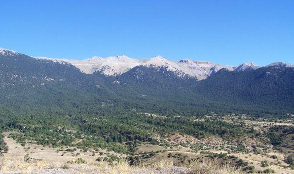 Chelmos Mountains above Kalavryta