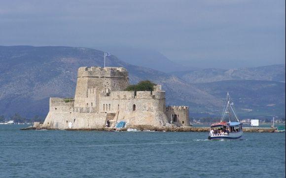 Bourdzi Island in Nafplio harbour