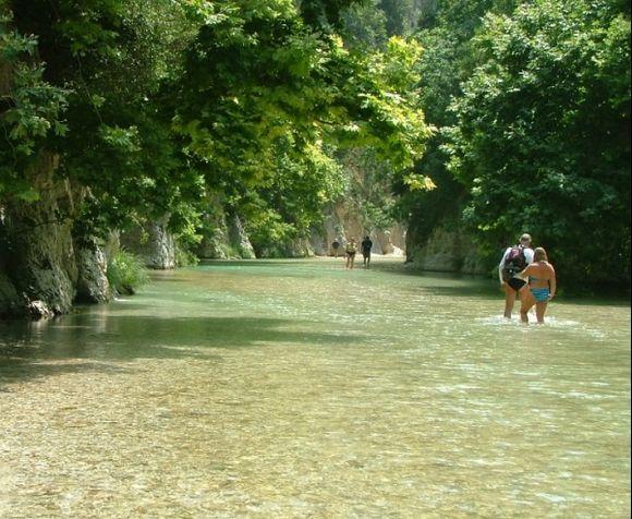 Parga Gliki Acheron River. In Greek Mythology it leads to one of the entrances to Hades.