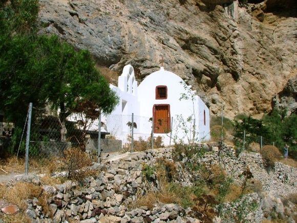 Santorini. Church on Mountain, Perissa