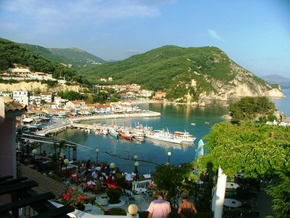 Parga. Time for dinner with fantastic view.