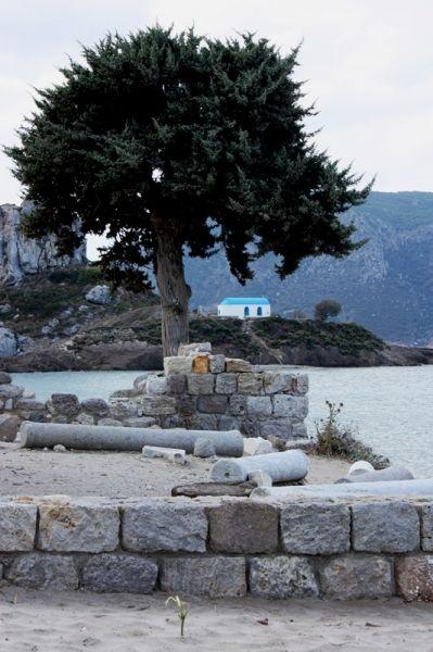 Kos. From the Basilica St. Stefanos to Agios Nicolaos.