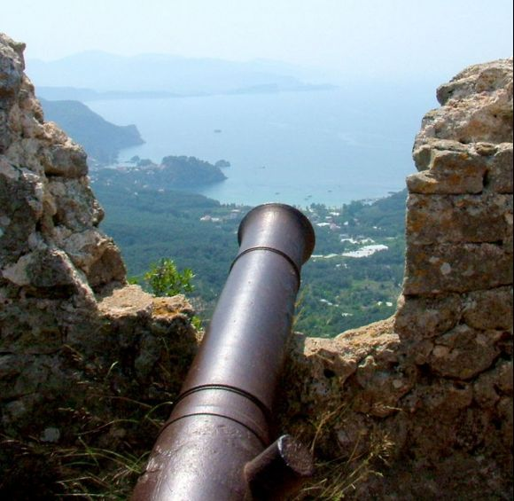 Parga. Canon Over Parga from Ali Pasha Castle